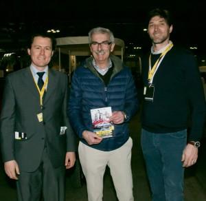Gabriele Manservisi, il pilota di rally Federico Ormezzano e Massimiliano Bristot