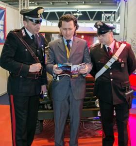 Lo stand dell'Arma dei Carabinieri
