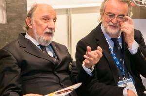 Roberto Loi, presidente Nazionale ASI e Riccardo Zavatti, presidente dell'Officina Ferrarese